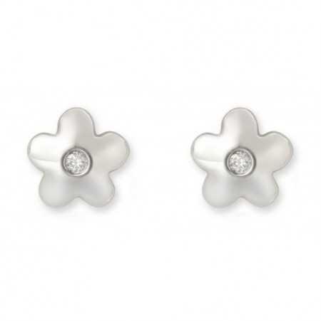 Pendientes diamantes dormilonas Flor