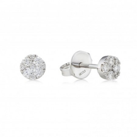 Pendientes de Diamantes ROSETON DORMILONAS