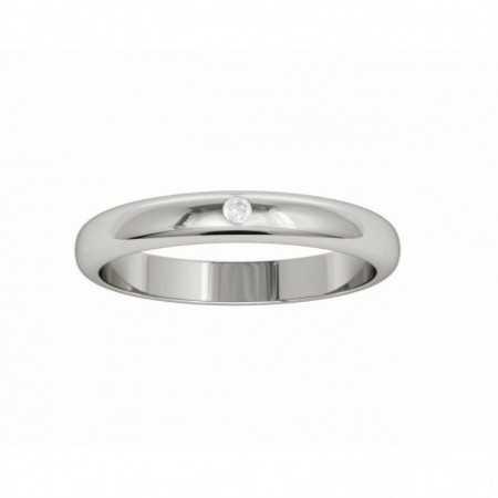 Wedding Ring ISIS White Gold with Diamond NICOLS