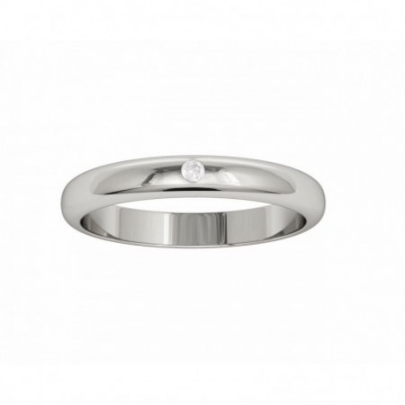 Wedding Ring ISIS White Gold with Diamond NICOLS