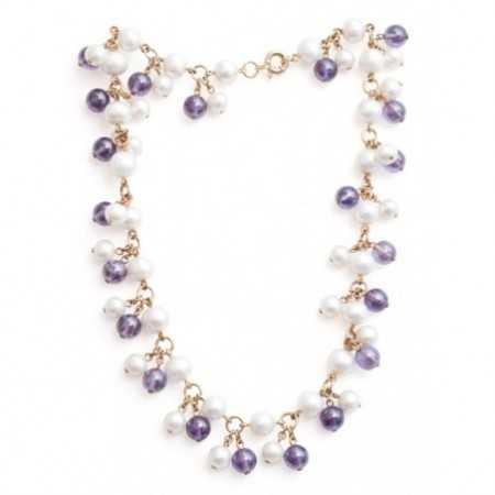 Collar Perlas y Amatistas Pearls Lady
