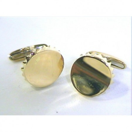 18kt Gold Cufflinks BOTTLE SHEET