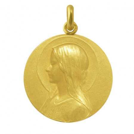 Medalla Virgen María Velo Oro 18kt