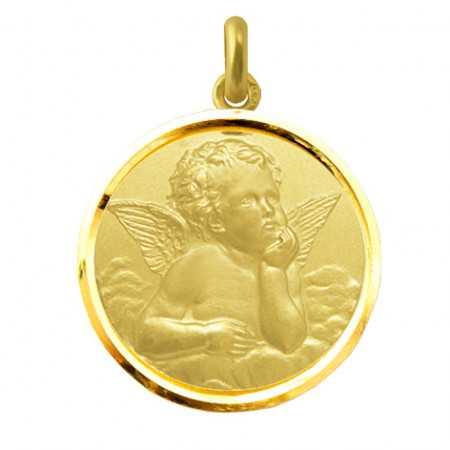 Medalla Ángel Serafín Oro 18kt Bisel