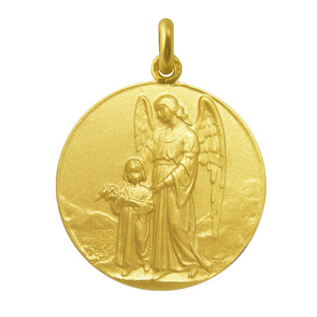 Medalla Ángel de la Guarda Oro 18kt