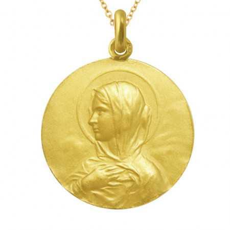 Medalla Virgen María Manto Oro 18kt
