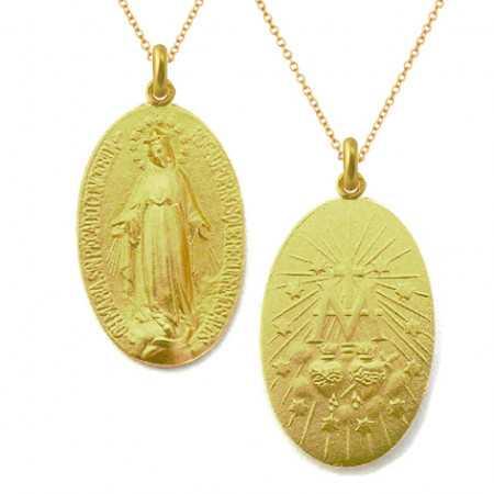 Medalla Virgen Milagrosa Oro 18kt