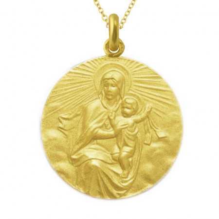 Medalla Virgen del Carmen Manto Oro 18kt