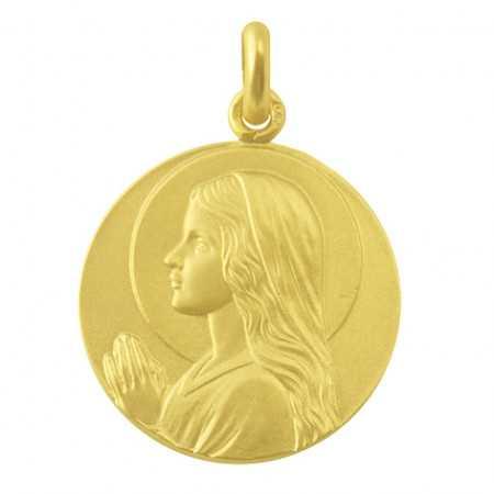 Medalla Virgen María Niña Oro 18kt