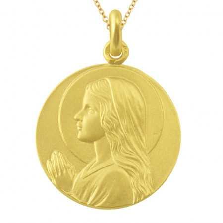 Medalla Virgen Niña Oro 18kt