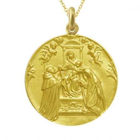 Medalla Virgen del Rosario Oro 18kt