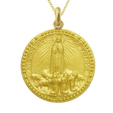 Medalla Virgen de Fátima Oro 18kt