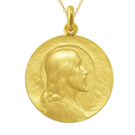 Medalla Cristo Salvador Oro 18kt