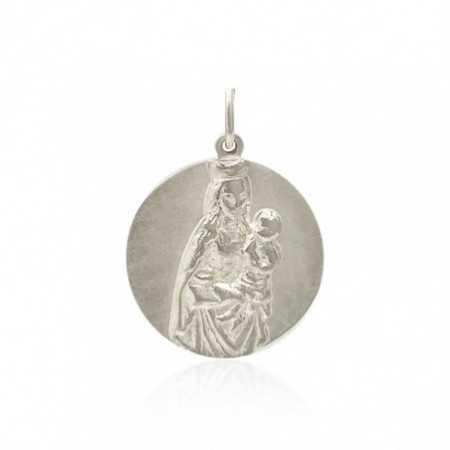 Medalla Virgen Colegio Montealto Plata de Ley