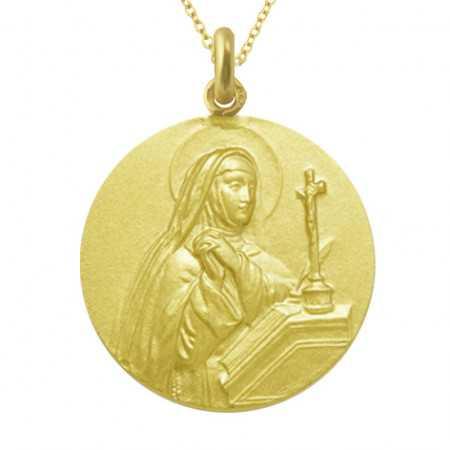 Medalla Santa Teresa Oro 18 kt.