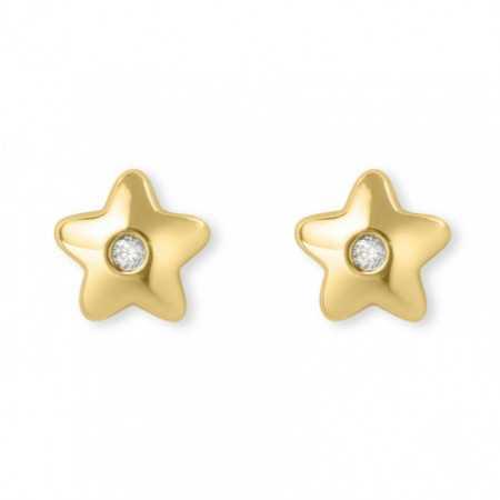 Pendientes diamantes dormilonas Estrella