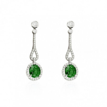 Pendientes Diamantes Esmeralda ROYAL JEWELS