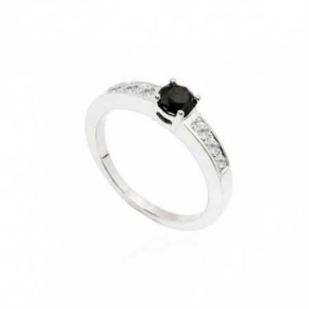 Anillo Diamante Negro DIAMOND ANNIVERSARY 0.48ct