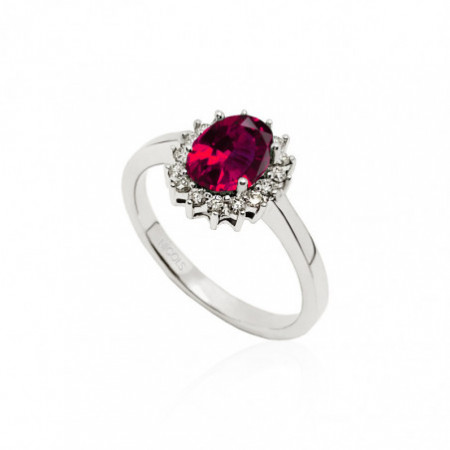 Ruby Engagement Ring DALIA 0.95