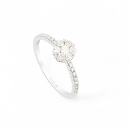 Anillo Diamantes Rosetón DIAMOND CLASSIC