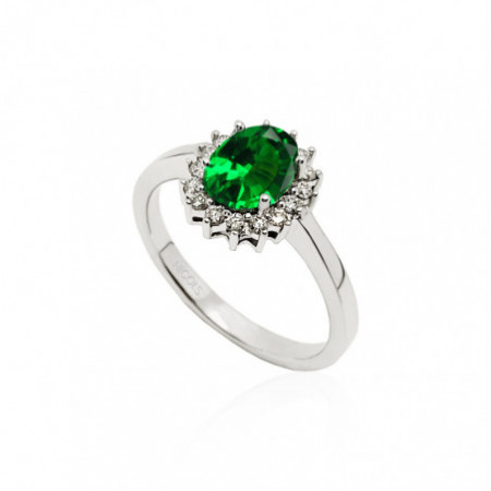 Emerald Engagement Ring DALIA 0.95