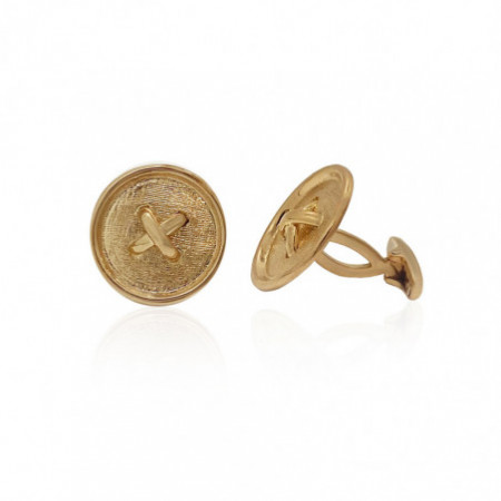 18kt Rose Gold Button Cufflinks.