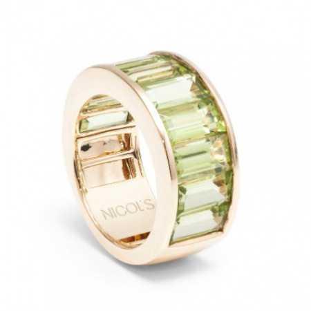 Green Peridot Ring FLUOR