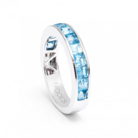 Blue Topaz Ring FLUOR MIDI