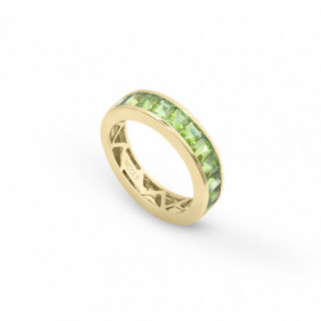 Green Peridot Ring FLUOR