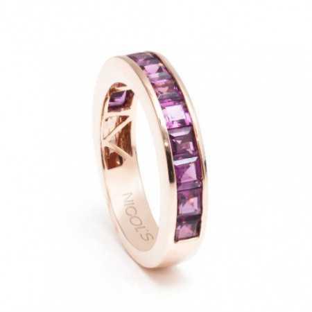 Rhodolite Garnet FLUOR Ring