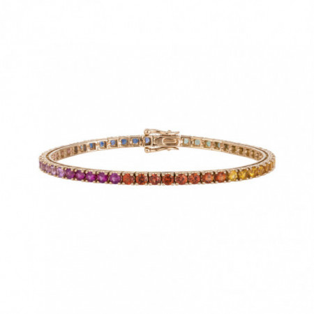 Rose Gold Bracelet, Sapphires RAINBOW 26910278233
