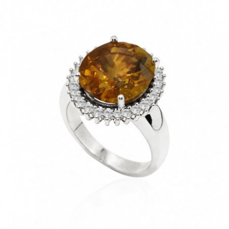 Champagne Zircon Ring ORLA POWERFULL