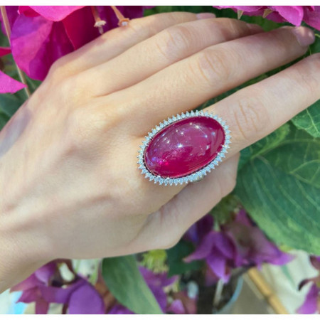Ruby Oval Ring ORLA POWERFULL