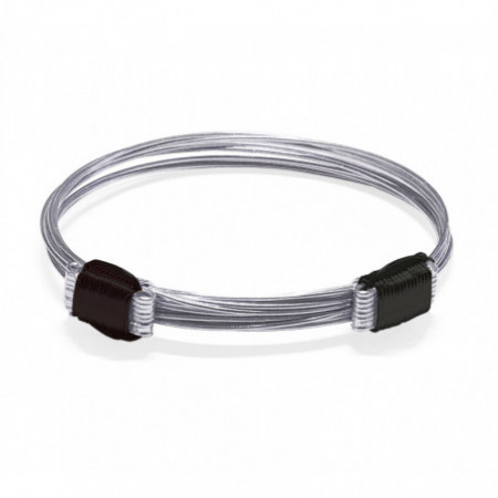 Silver and Hair Bracelet SLIDING KNOT