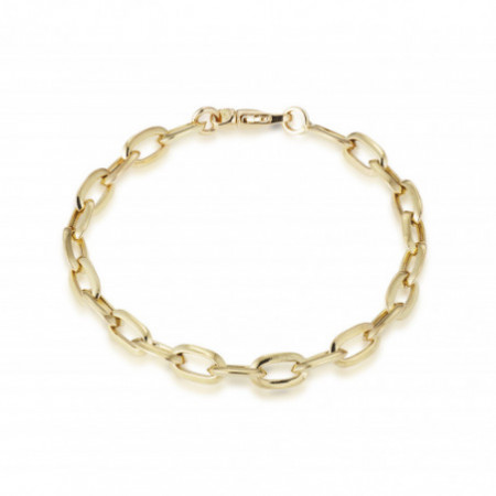 18kt Gold Bracelet ESLABON DAILY 20cm