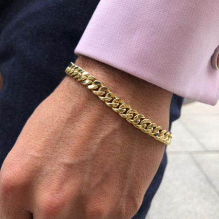 18kt Gold Bracelet CUBAN LINK 7.5mm