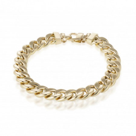 18kt Gold Bracelet CUBAN LINK 10mm