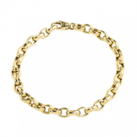 18kt Gold Bracelet OVAL LINK 9x6