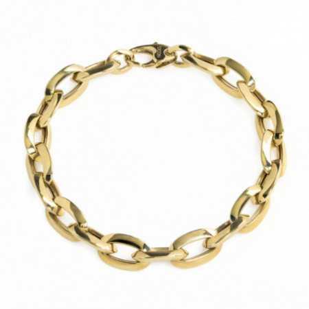 18kt Gold Bracelet BEZEL LINK 15x9