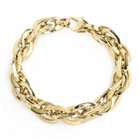 18kt Gold Bracelet TRIPLE LINK 15x12