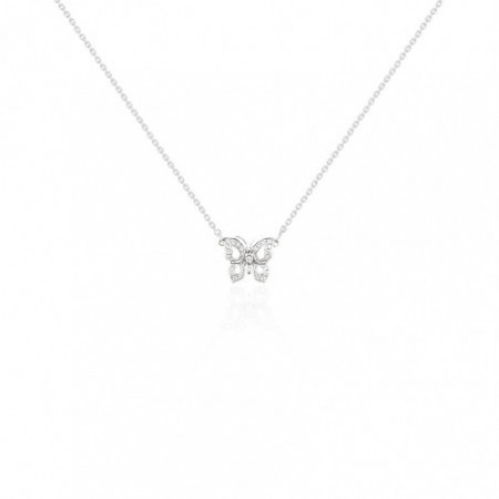 Diamonds Butterfly Necklace NICOLS