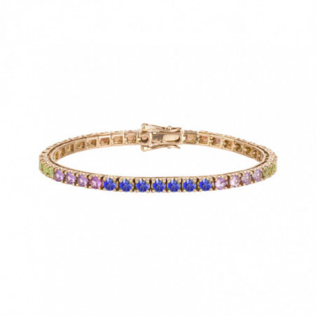 RAINBOW Sapphire and Rose Gold Bracelet