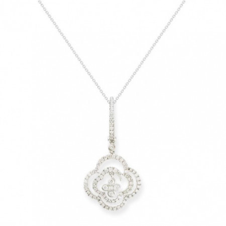 ARABESQ Flower Diamonds Pendant