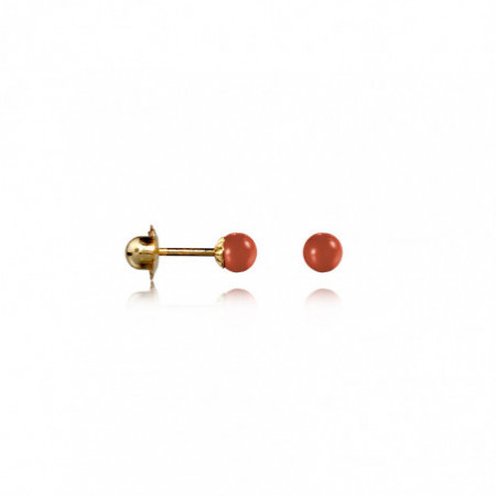 Thread Nut Coral Baby Earrings