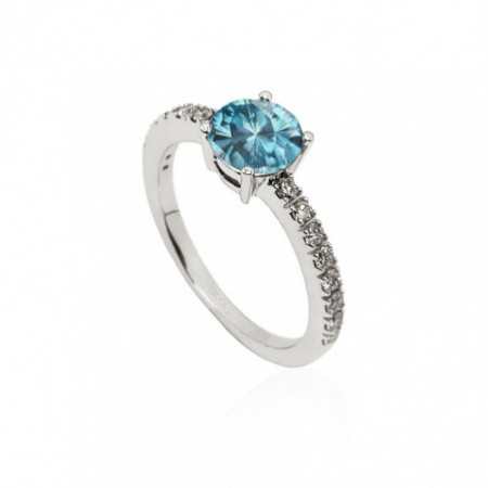 DAFNE Anniversary Zircon and Diamonds Ring