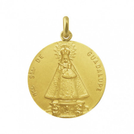Virgin of Guadalupe Extremeña Medal 18Kt.