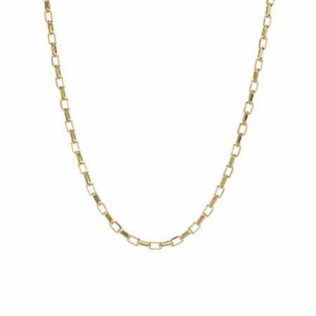 18kt Gold Forged Rectangular Chain 50cm