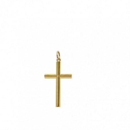 Solid Smooth Gold Cross TUBE XS