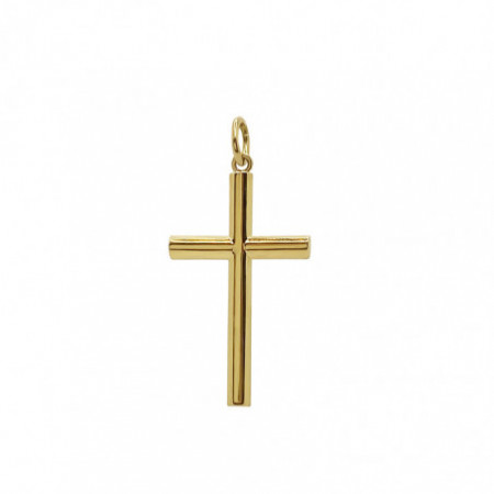 Solid Gold Cross TUBE L