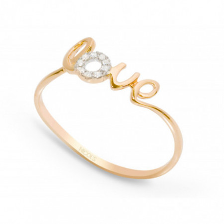 Anillo oro LOVE MINI DETAILS